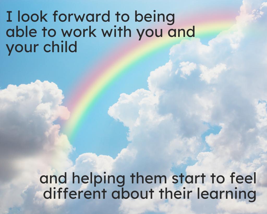 Helping you child rainbow photo