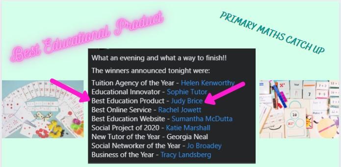 Award winner TTLN 2020 Business awards Judy Brice Best educational product