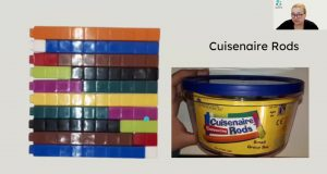Cuisenaire Rods in a pot
